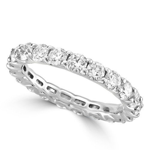 half in setting diamond style tilt gold moon wedding round white eternity band bands