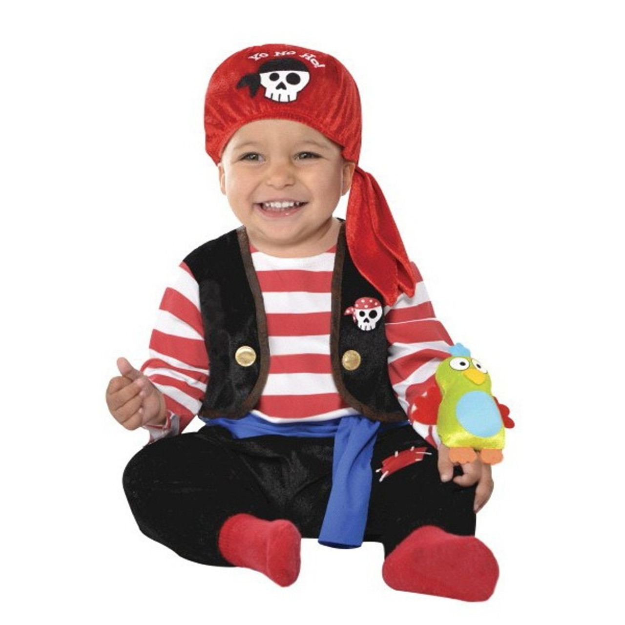 sc 1 st  Mardi Gras Party Sales & Baby Buccaneer With Parrot Infant Boys 6-12 Months Pirate Costume