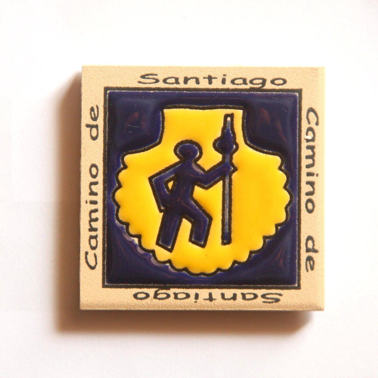 Camino De Santiago Pilgrim Scallop Shell Magnet Tile Souvenir