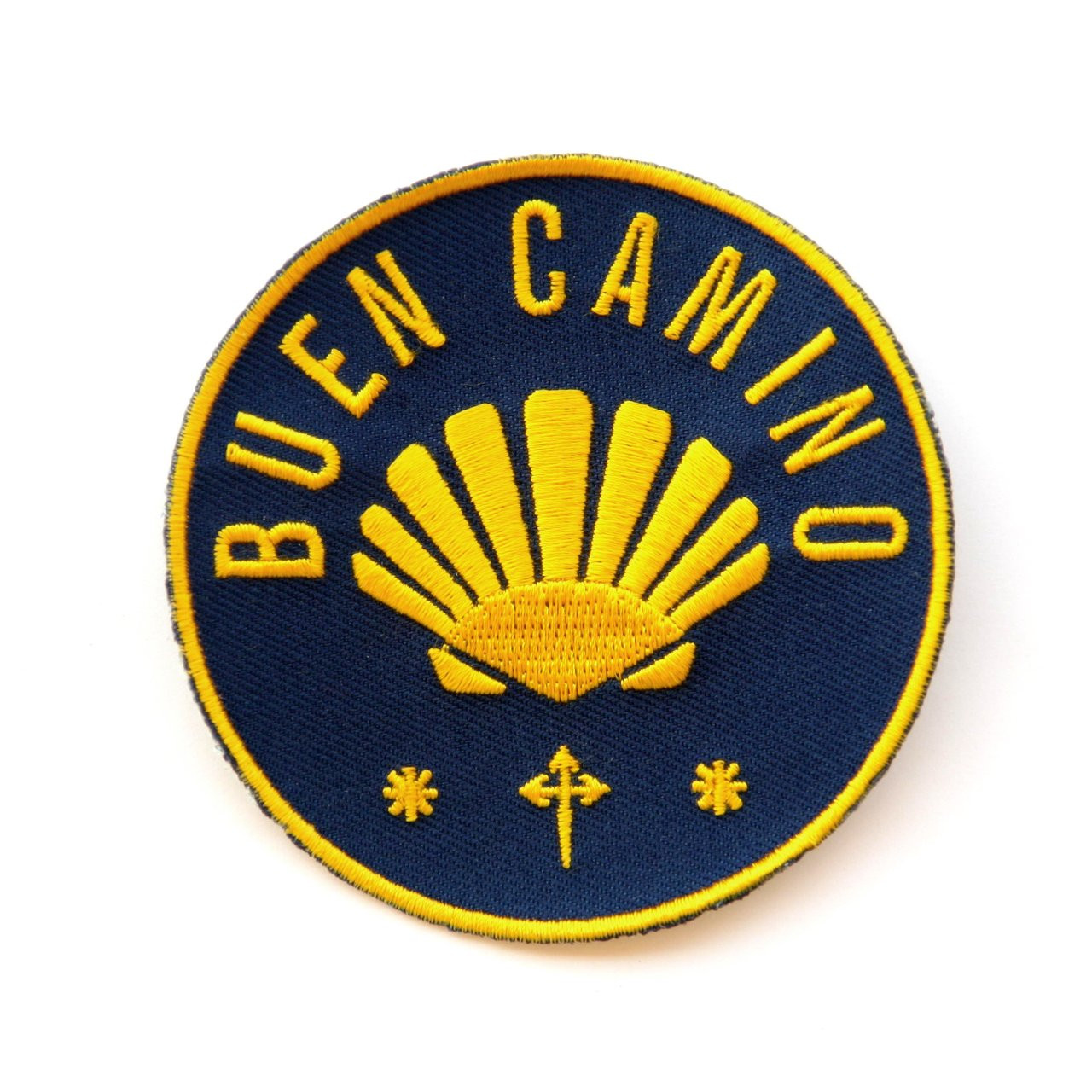 Camino De Santiago Buen Camino Cloth Patch With Scallop Shell