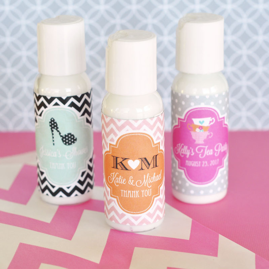Personalized Wedding Party Favors - Hand Lotion Favor - 24 ct