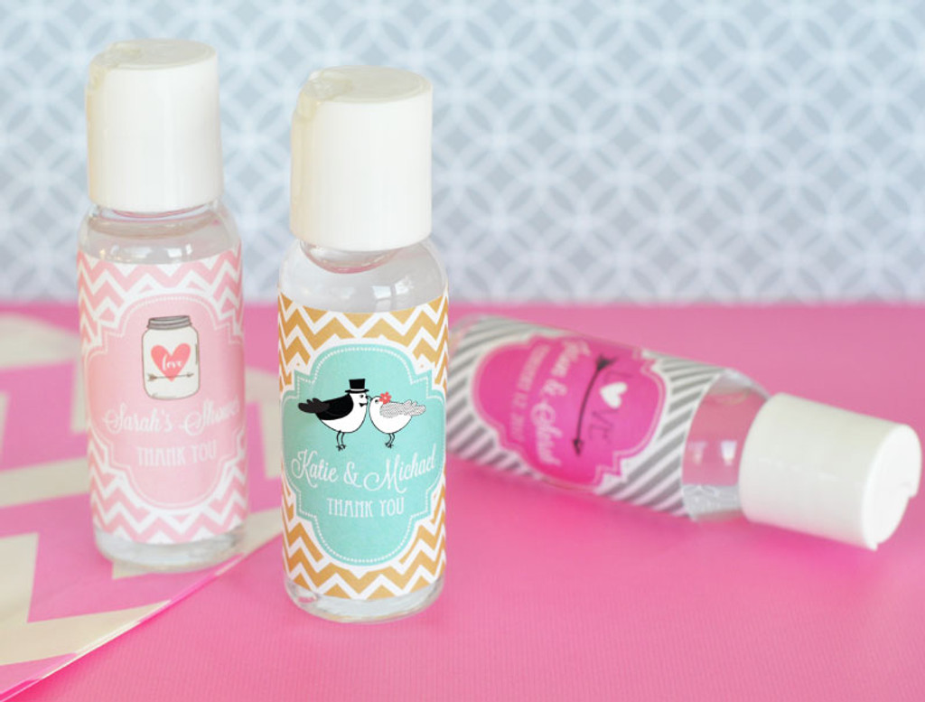 Hand Sanitizer Personalized Wedding Party Favors - 24 ct