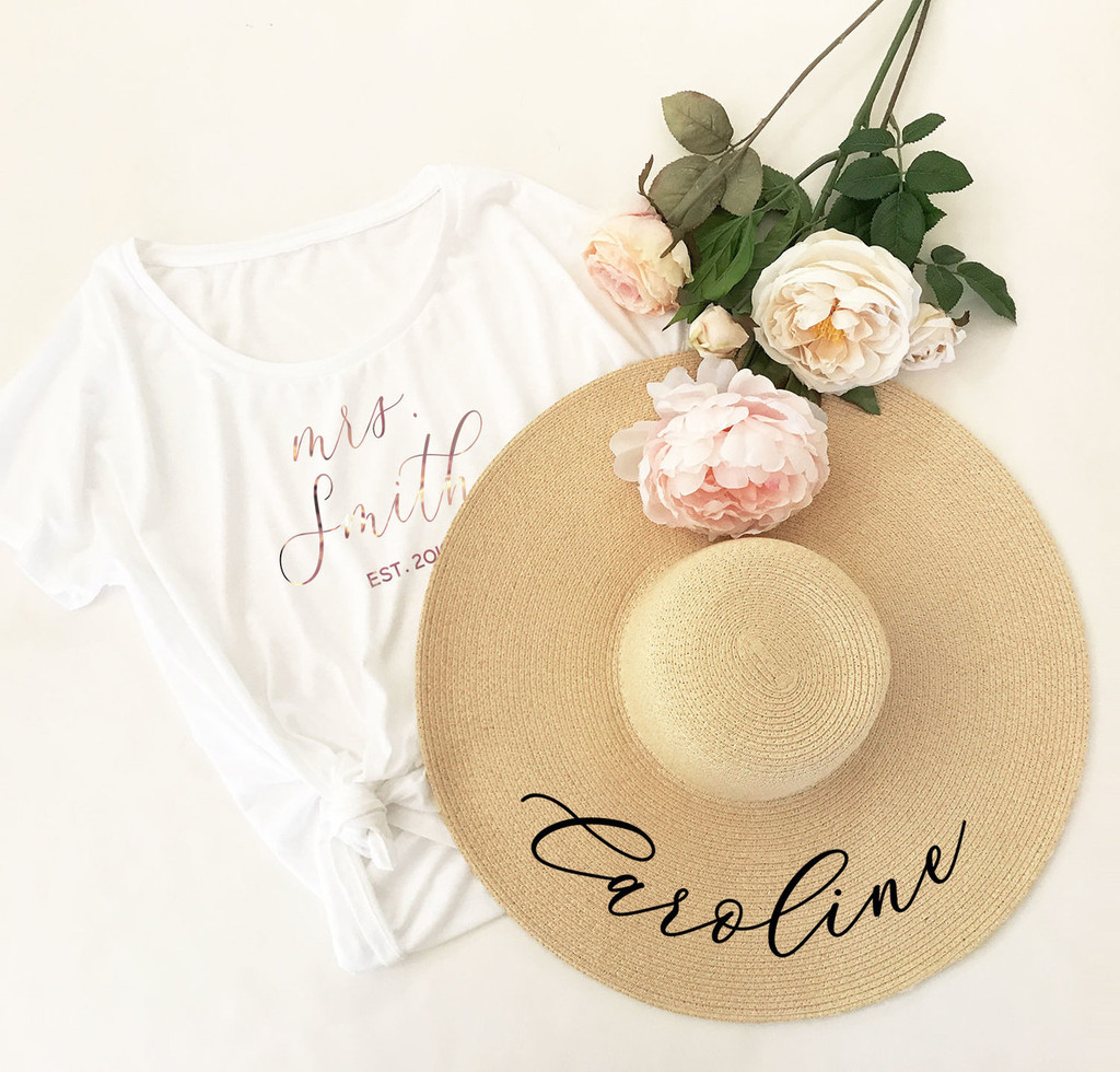 Personalized Sun Hat - Floppy Beach Hat