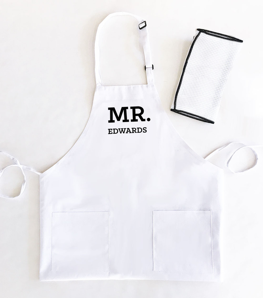 Mr & Mrs Personalized Aprons