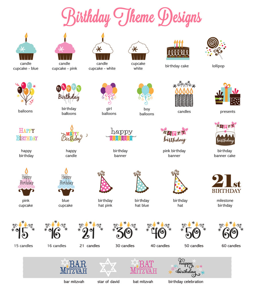 Birthday Bracket Favor Label Sticker, Birthday Favor Label, 30th Birthday, 40th Birthday 24ct