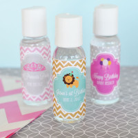 Hand Sanitizer Personalized Kids Birthday Party Favors - 24 ct