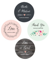 Personalized Floral Garden Round Labels 48ct