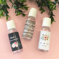 Personalized Floral Garden Hand Sanitizer 48ct