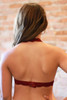 Let There Be Lace Halter Bralette in Burgundy back view.