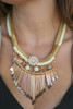 Floral and Fringe Ivory Statement Necklace