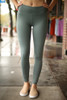 Activated Athletics Teal Blue Mesh Pocket Leggings front view.