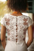 All Into Ivory Lace Maxi Dress with Slit back detail view.