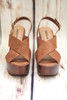Rachel Tan Wooden Wedge Slingbacks