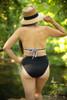 Down to the Seaside Black and White Bikini back view.