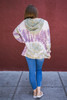 Totally Tie-Dye Loose Fit Hoodie Back View Hood Down