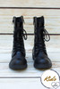 Mia Black Lace Up Children's Boots