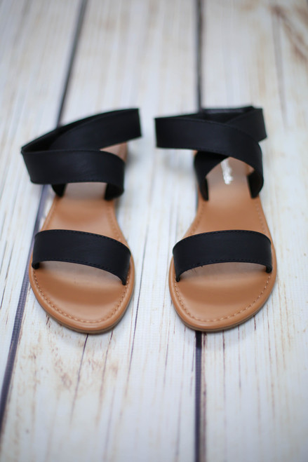 Edith Black Strappy Sandal
