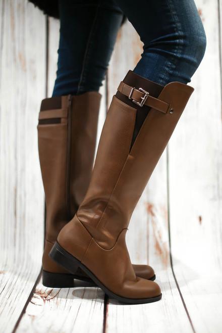 Jensen Camel Knee High Riding Boots