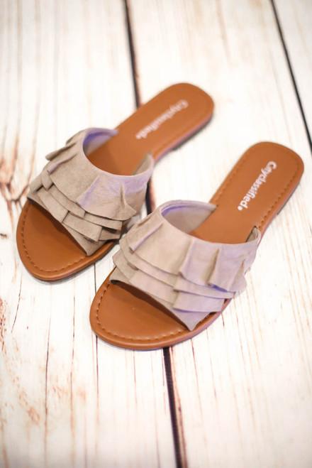 Alessia Clay Ruffle Sandal
