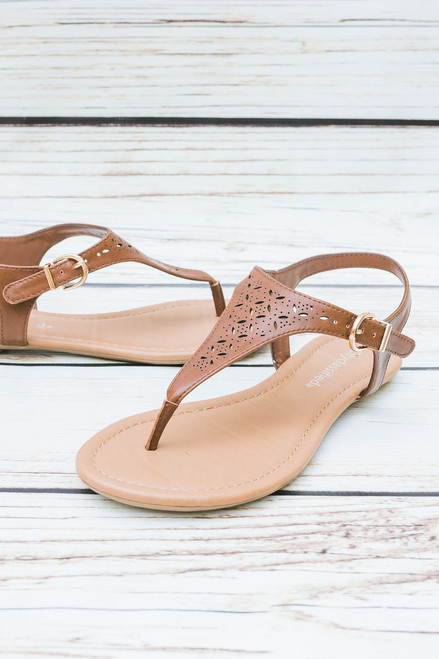 Rebecca Tan Laser Cut Sandals