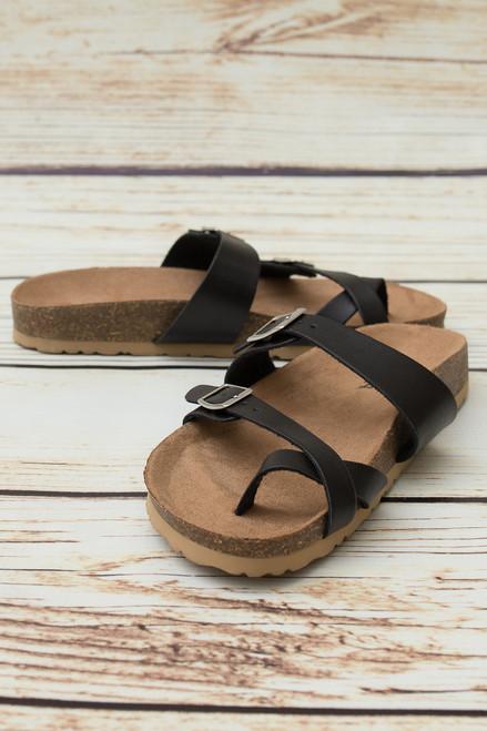 Kenzie Black Strappy Sandal