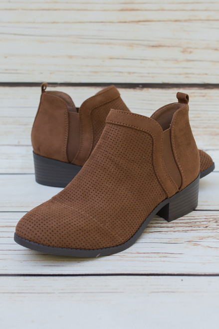 Heidi Chestnut Ankle Booties