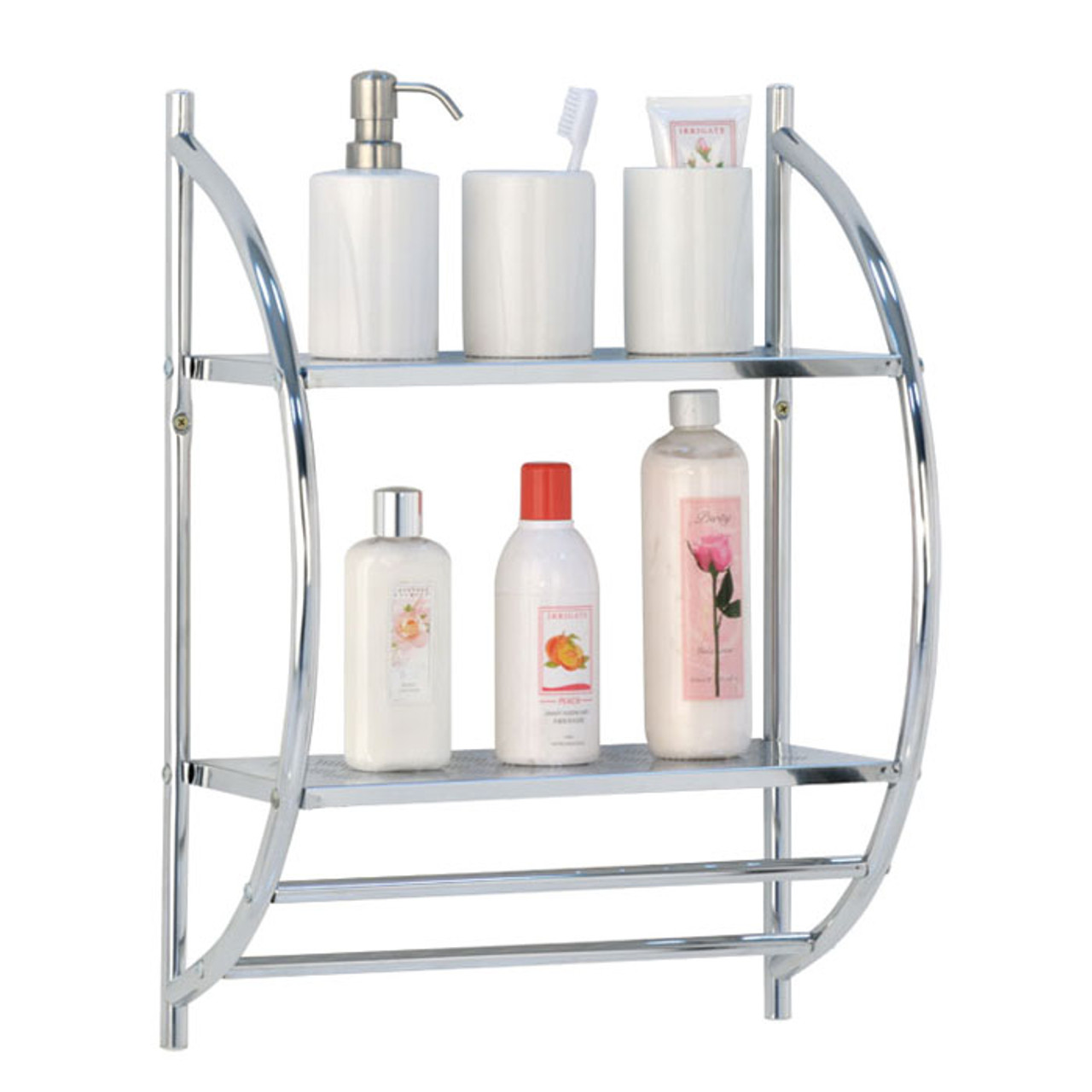 Bathroom Shelf - Solutions - Your Organized Living Store on metal wall shelf rack, metal bathroom storage shelf, metal bathroom storage racks, metal bathroom towel rack,