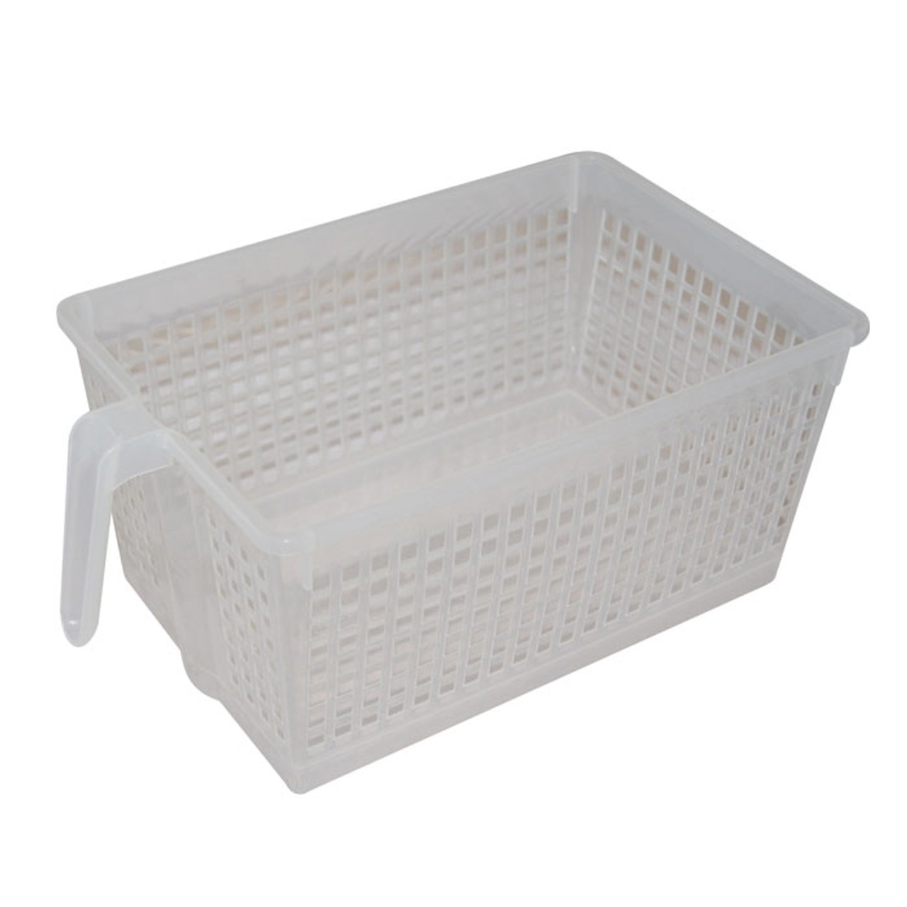 Clear Handled Storage Basket, Large.