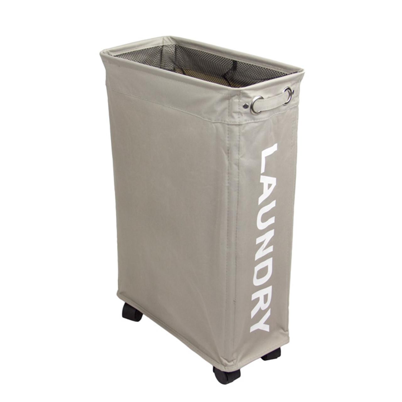 slim mobile laundry basket solutions your organized. Black Bedroom Furniture Sets. Home Design Ideas