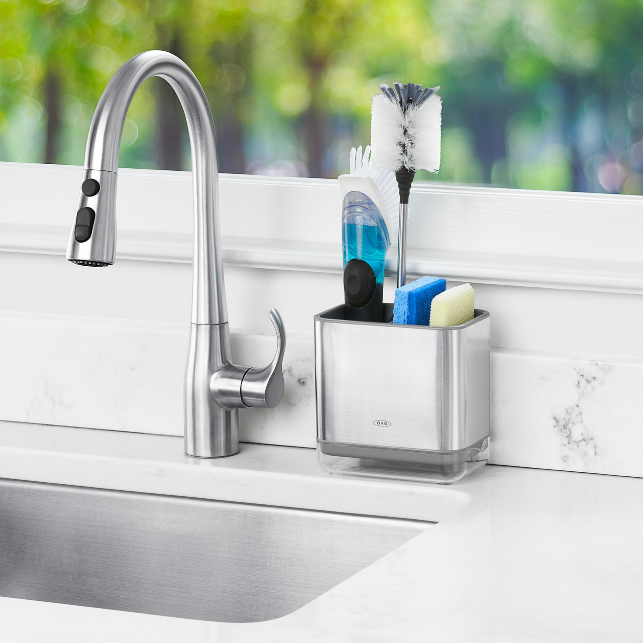 OXO Stainless Steel Sinkware Caddy - Solutions - Your Organized ...
