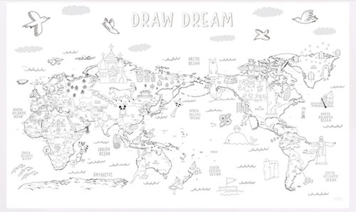 Drawing world map with 12 coloring pencilsshipping for only us ahzoa drawing world map with 12 coloring pencilsshipping for only us gumiabroncs Gallery