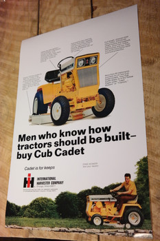 "International Harvester Cub Cadet Poster 12""x18"""