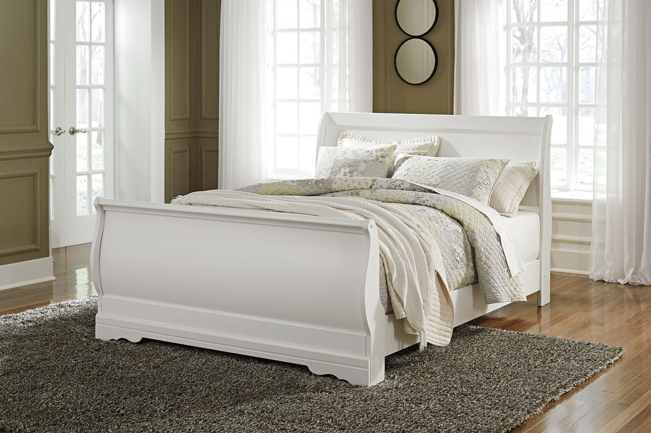The Anarasia White Queen Sleigh Bed Available At Gibson Mcdonald