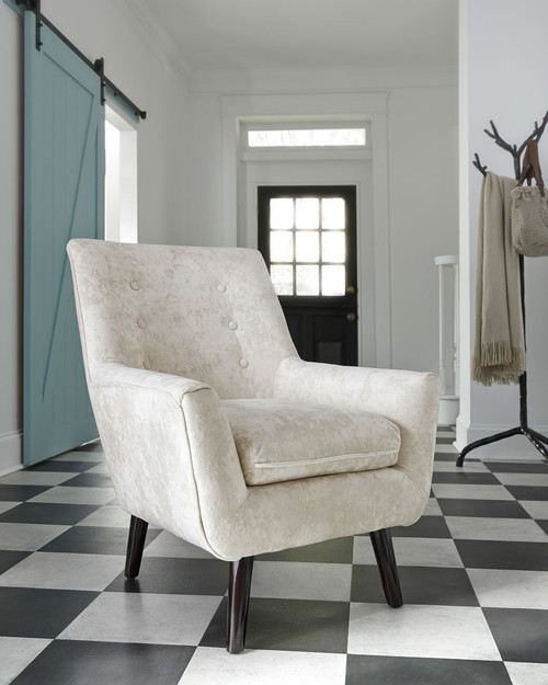 The Tartonelle Ivory Taupe Accent Chair Available At