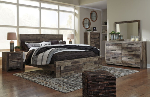 The Derekson Multi Gray 5 Pc Queen Panel Bed Collection