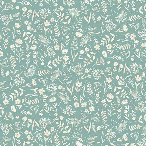 Woodland Scatter Cotton in Turquoise