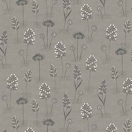 Woodland Grasses Cotton in Grey