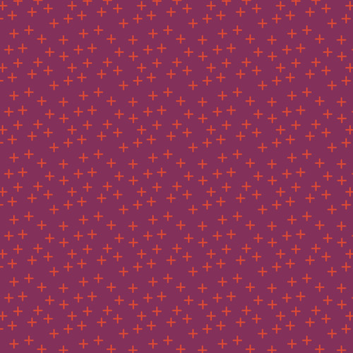 Cross in Plum Cotton Fabric