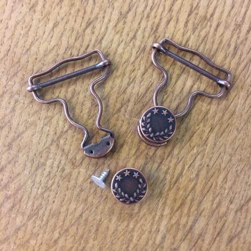 Dungaree Clips in Brass