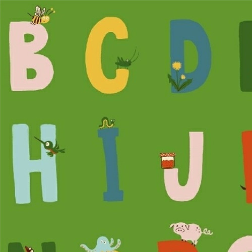 Alphabet in Green - Kinder by Heather Ross