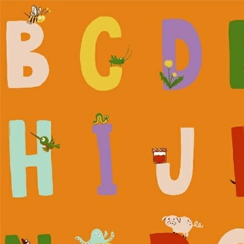 Alphabet in Orange - Kinder by Heather Ross