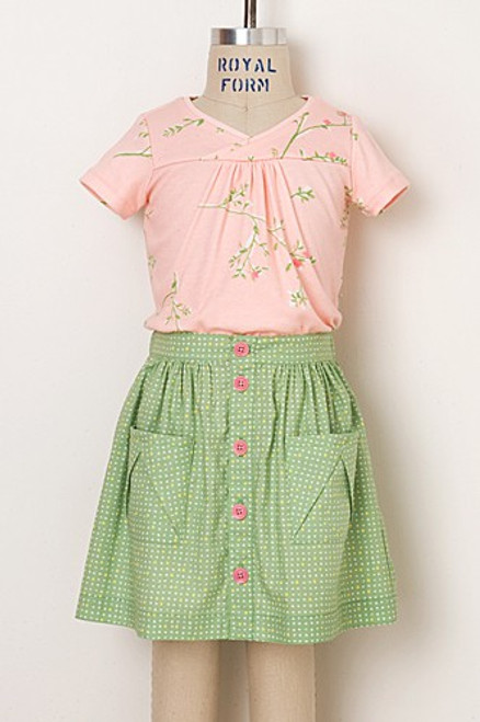 Oliver + S Hopscotch Skirt, Top and Dress Pattern