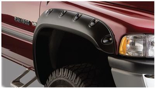 BUS50029-02, Fender Flare; Pocket Style (R); 3 Inch Tire Coverage; Matte Bla