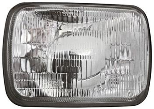 IPCCWC-7005, Headlight Assembly; Crystal Eyes; 7 x 6 Inch Rectangular; Plain