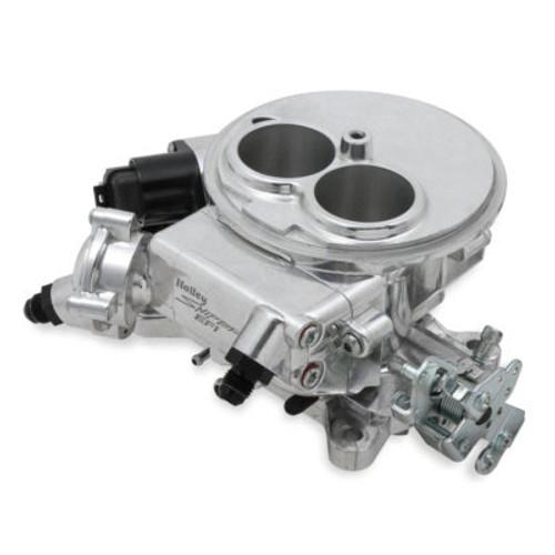 HLY550-849, Fuel Injection, Sniper EFI, Sniper EFI, Throttle Body, Holley Flange, Aluminum, Shiny, Kit
