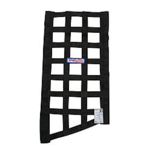 CCE4030, Window Net, Funny Car Window, SFI 27.1, 1 in Webbing, 10-3/4 x 22 x 19 in Trapezoid, Black, Each