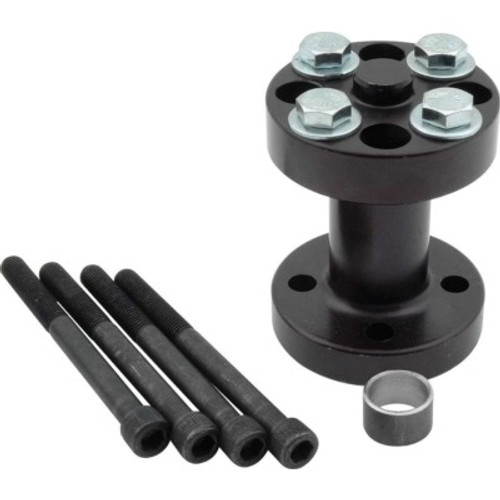 ALL30190, Fan Spacer, 3 in Thick, Bushing / Hardware, Aluminum, Black Anodize, Chevy V8 / Ford V8, Each