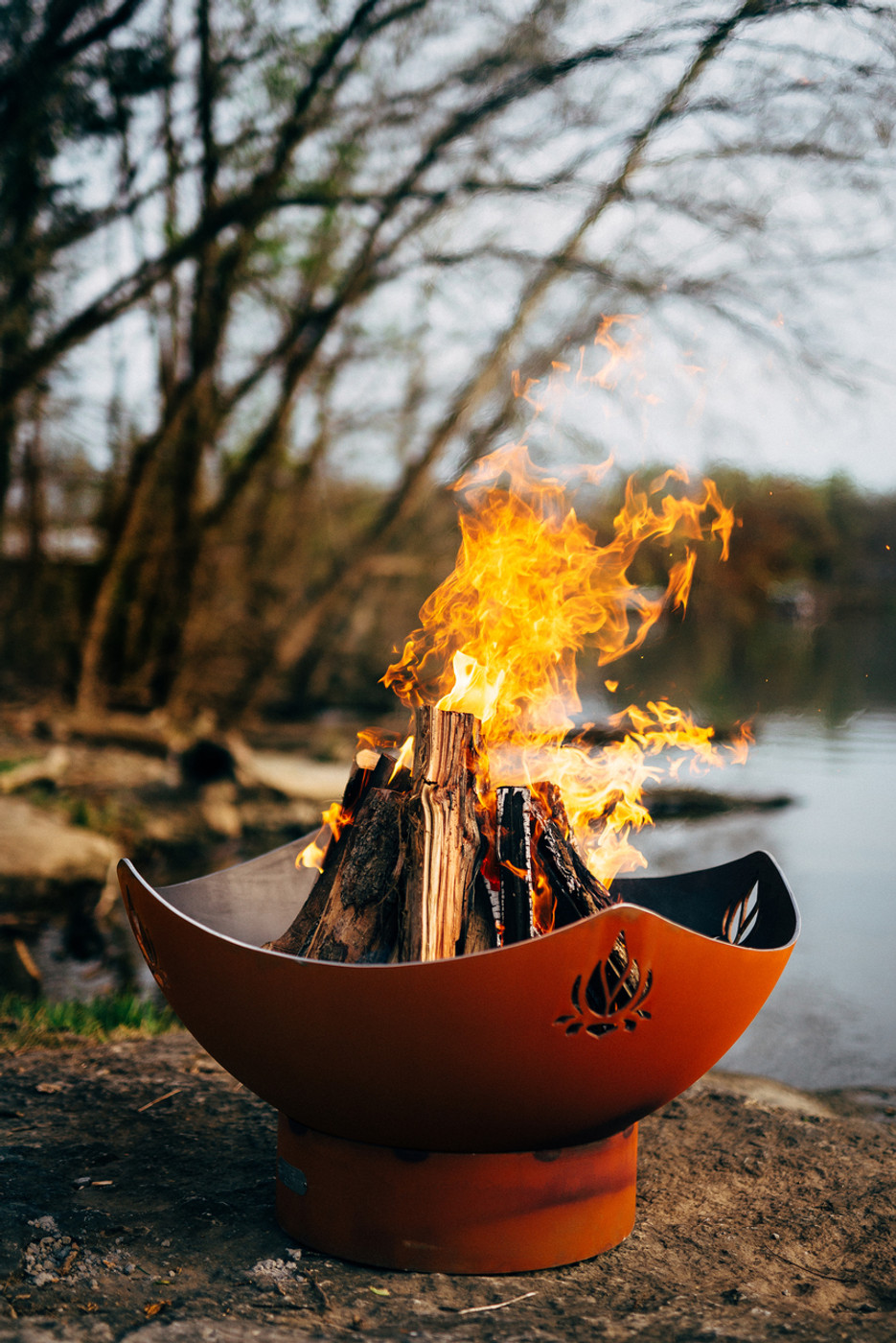 Soothing evenings by a fire pit, Namaste