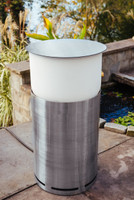 """Crystal Tower 44"""" Tall in Stainless Steel Finish"""