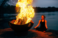 The heart can be visualized as a lotus flower unfolding at the center of the chest. Like a lotus that contracts and opens according to the light, our spiritual heart can be awakened through various yoga practices and meditation while watching the dance of the flame.